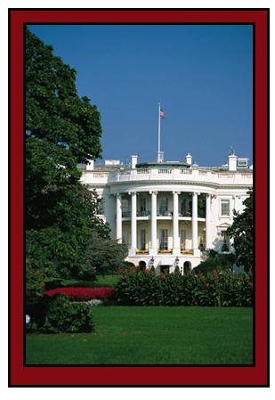 The White House, the residence and office of the President of the United States.