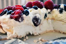 Pavlova with view of the inside.