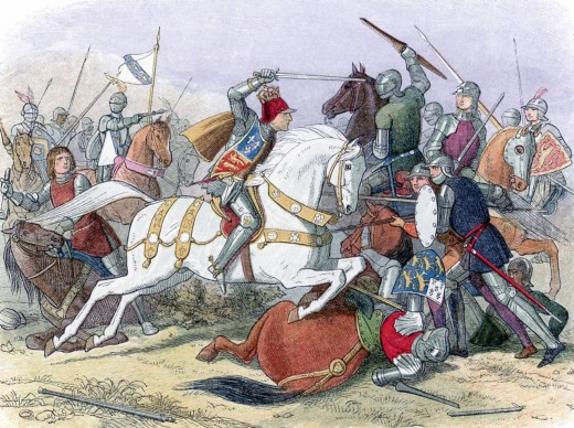 King Richard III at Bosworth Field.