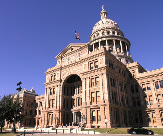 The Austin State Capitol Building, one of Austin's many popular tourist attractions.