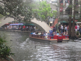 The Riverwalk in San Antonio; one of the city's main tourist attractions.