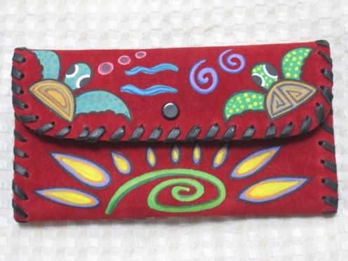 Suede handmade walllets
