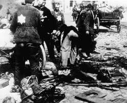 Jewish slave laborers in Poland  under Nazi rule during World War II.