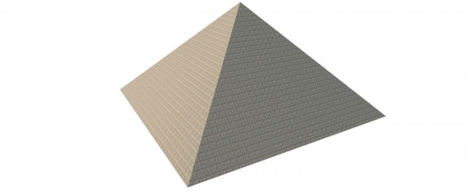 The same pyramid after rendering