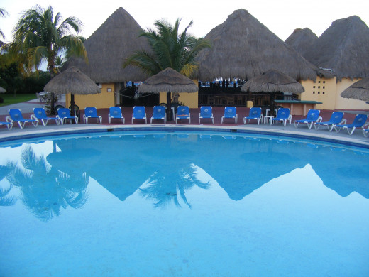 Alternate view of the main pool. Allegro Resort. Cozumel, Mexico