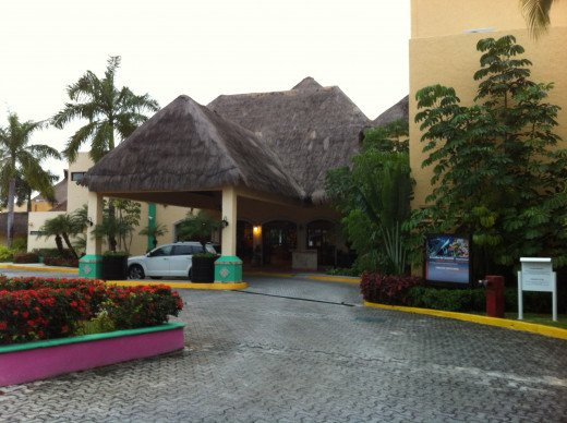 View from outside the main entrance of the Allegro Resort.