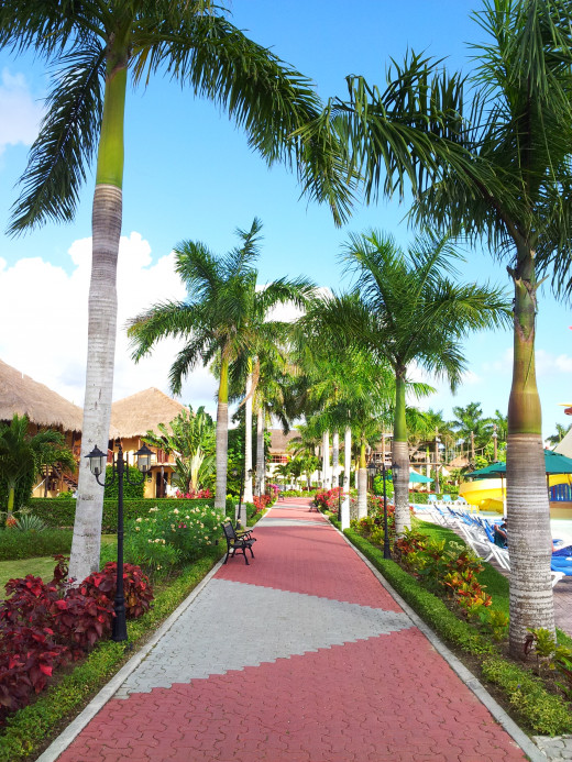 The resort is very colourful, well maintained and clean.