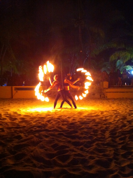 The Allgero provides nightly entertainment for their guests. This particular night we were treated to a stunning fireshow on the beach.