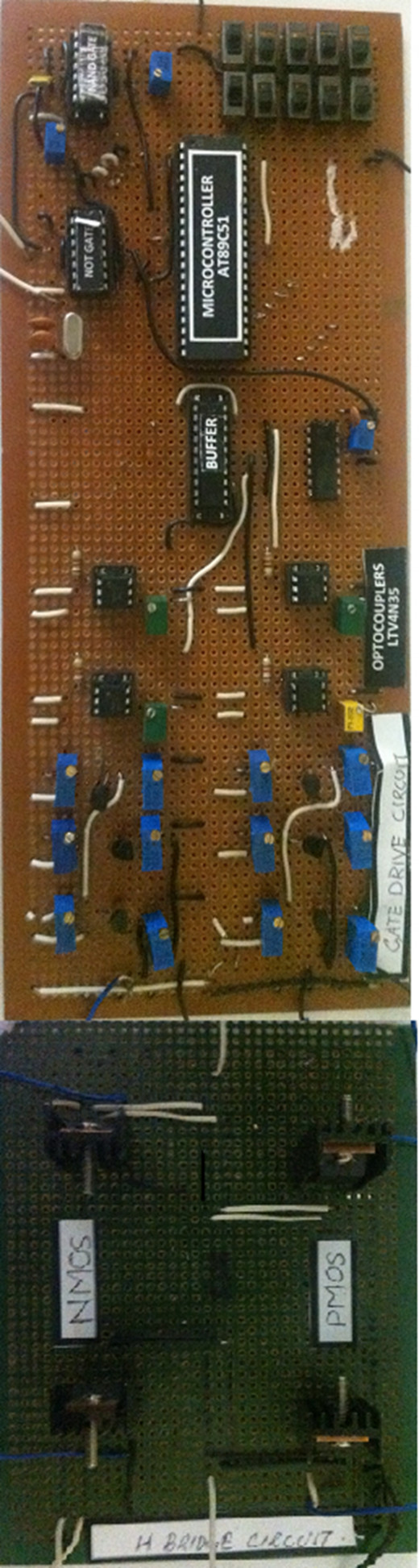 Hardware implementation of simulated circuit.