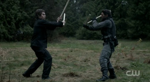 Oliver stands no chance against Crixus... I mean Slade Wilson.