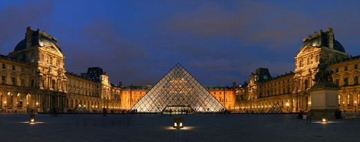 Benh Lieu Song photographed the courtyard of the Musée du Louvre (Louvre Museum) and its pyramid entrance in Paris, France on February 24, 2007.