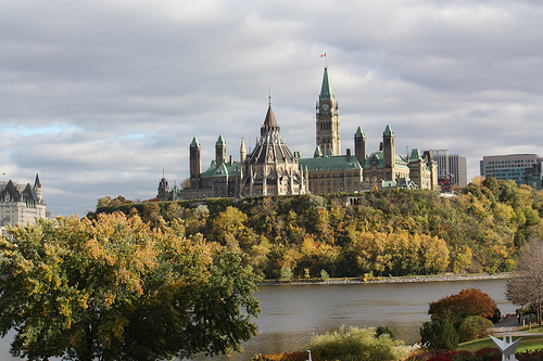 Canada's Parliament Building -- where things have not recently gone as Duverger might have predicted.