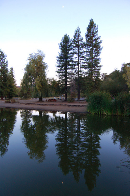 Spring Lake is located ten minutes from downtown. The signs to it are few and very small to see. The lake area offers easy, flat trails and lifeguards in the summer in the swimming area. However, most park rangers at the campsite are not friendly.