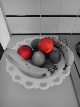 A picture taken with the Partial Colour effect on.