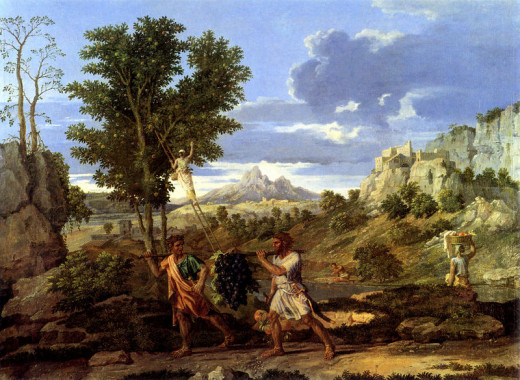 Nicolas Poussin: Grapes from the Promise Land 1664