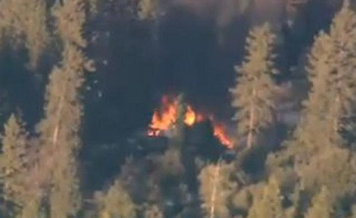 The Big Bear Lake cabin fire where Dorner was killed. The charred remains found inside have been confirmed as his.
