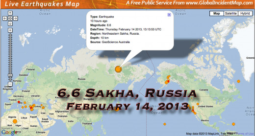 Unusually large earthquake in Siberia.