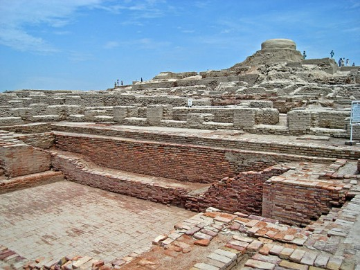 Mohenjo Daro from within the city.