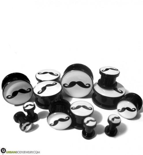 Mustache Plugs