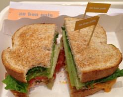 Share a low calorie breakfast sandwich with a pal, perhaps.