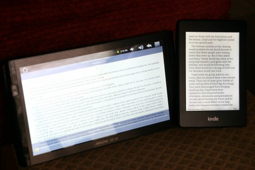 Arnova tablet vs Kindle Paperwhite e-reader