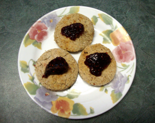 Oat-Almond Bread Topped With Jam