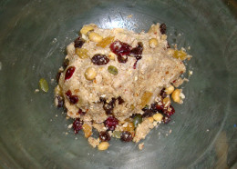 Photo: Adding Fruit and Nuts to Oat-Almond Dough