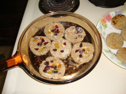 Photo: Cooking Fruit-Nut Bread