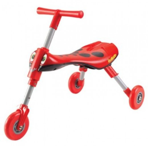 The Scuttle Bug is a nice alternative to the traditional tricycle, which can be tricky for a toddler to learn. The Scuttle Bug is powered with the toddler's feet, rather than with pedals.