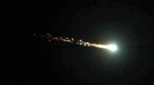 A motorist stuck in traffic captured this meteor fireball in California in 2012.