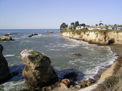 Pismo is roughly 45 miles south of Hearst Castle.