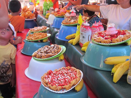 Colorful Funnel Cakes