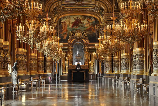 Eric Pouhier photographed the Grand Salon (Foyer) of Opéra Garnier (Paris Opera House) on February 12, 2008.
