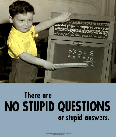 There are no stupid questions or stupid answers. (image source: barryhasablog.blogspot.com)