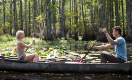 Julianne Hough and Josh Duhamel take a cone ride in the romantic movie Safe Haven from novelist Nicholas Sparks