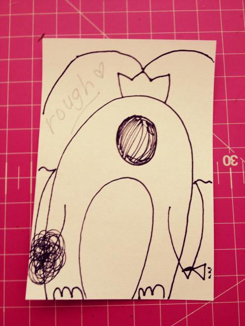 Penguin Bride - Rough Sketch