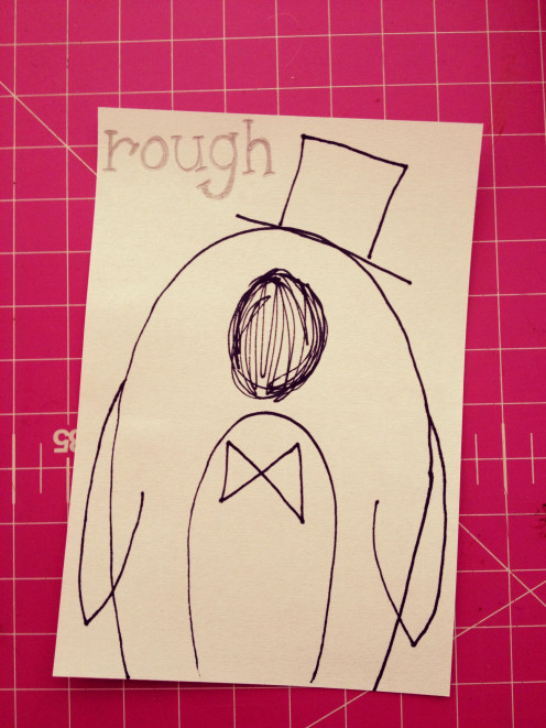 Penguin Groom - Rough Sketch