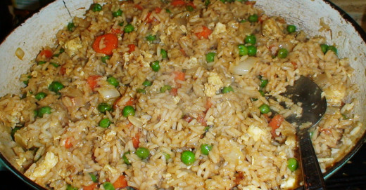Easy frired rice.