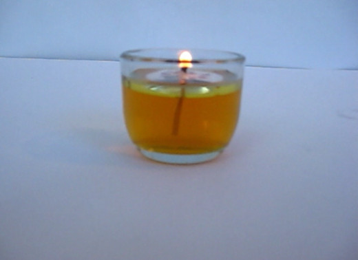 Yellow Oil Candle