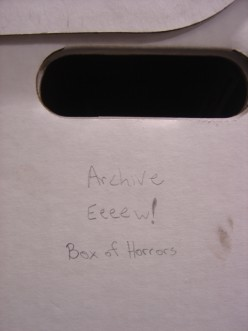 Archivist's box of Horrors!