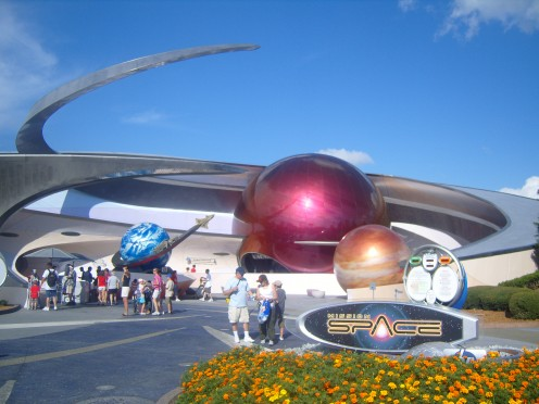 Just to the left is an indoor, space-themed playground!