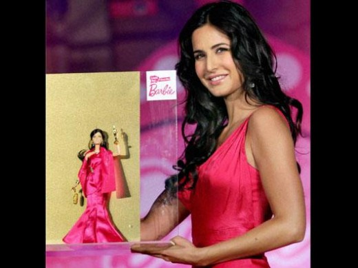 Katrina Kaif and her look alike Barbie doll