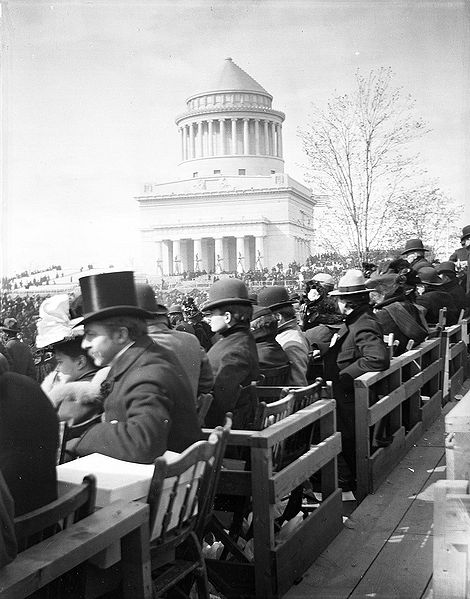 Grant's Tomb on its inauguration/dedication day, April 27, 1897.