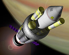 Artist's conception of a Project Orion spacecraft