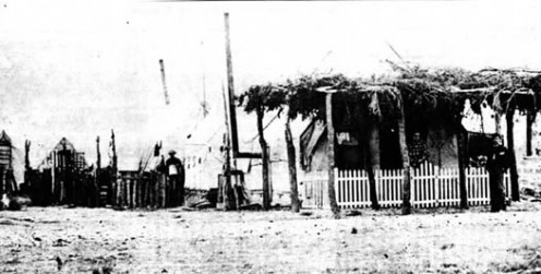Enlisted men's quarters at Fort Concho in 1871.