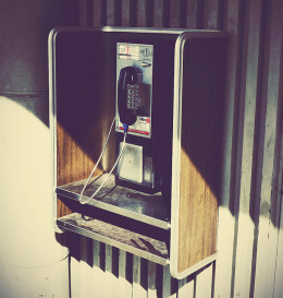 Don't see many public phones any longer. For that matter, there aren't too many land lines anywhere these days.