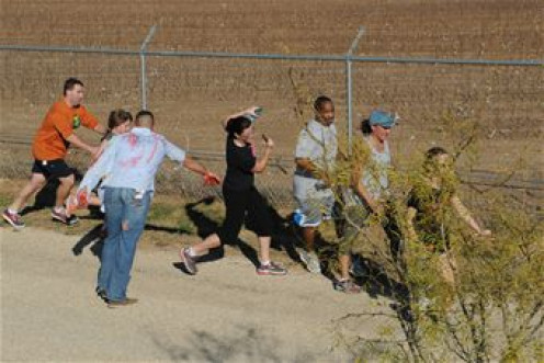 The first Goodfellow AFB ZOMBIE RUN race in December 2012.