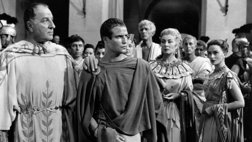 Louis Calhern and Marlon Brando in Julius Caesar (1953)