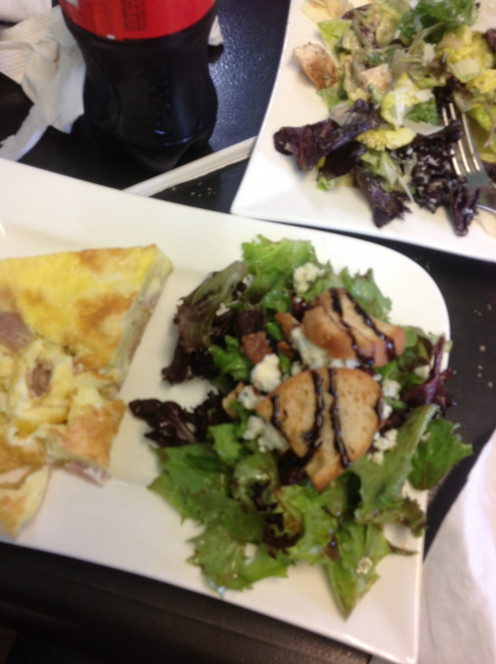Harvest Salad and Ham & Cheddar Quiche