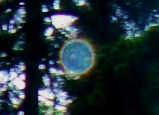 Spirit generated orb images are always with us. The photo was taken at dusk in December.